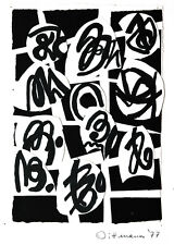 Helmut DITTMANN 1931-2000: Collage Tuschpinsel Fantastische Kalligraphie 1977