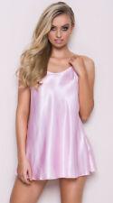UK Womens Satin Nightwear Sleepwear Ladies Pajamas Lingerie Night Mini Dress Top
