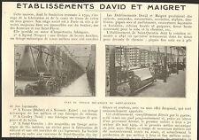 02 SAINT-QUENTIN TISSAGES DAVID MAIGRET EPINAL TARARE NERONDE CAUDRY 1923