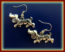 DACHSHUND DOG Jewelry EARRINGS - Retro Style - Weiner Sausage Puppy Pup
