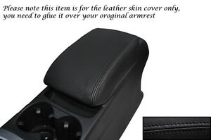 BLACK STITCHING FITS AUDI Q5 2008-2013+ LEATHER ARMREST SKIN COVER ONLY
