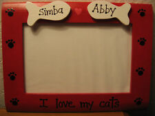 PERSONALIZED - I LOVE MY CATS - custom pet gift photo picture frame