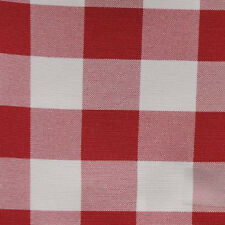 """RED AND WHITE CHECKERED TABLE RUNNER - 13"""" x 108"""" CHECKER PATTERN TABLE RUNNERS"""
