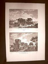 Agrigento Tempio di Esculapio e Tomba di Terone Voyage Pittoresque di Saint Non
