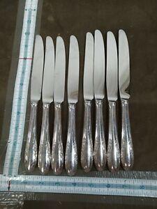 1940 ALVIN Fashion Lane Silverplate Flatware 8 butter dinner knife knives 9.5in