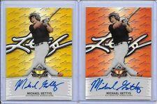 2014 Leaf Valiant Draft Michael Gettys Orange Prismatic RC Auto 35/50 Padres