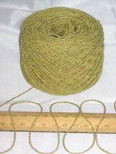 50g palla di Senape Verde Lana per Lavoro a Maglia 4 Strati Cotone & ACRILICO FILO ONDULATO Bouclé