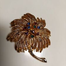 Jewelry Rhinestone Brooch Pin Large Vintage Sarah Coventry Costume