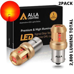 LED RED 1156 Rear Turn Signal Bulbs for Kia Hyundai  VW,Heavy Duty Aluminum Sink