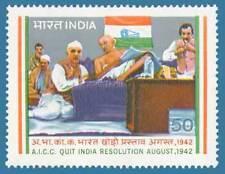 INDIA STAMP # 936 Quit India Resolution Mahatma Gandhi 1983 MNH
