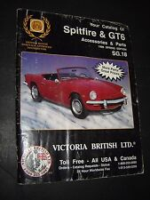 Catalog Of Accessories & Parts For Spitfire & GTS 1996 SPRING EDITION acceptable