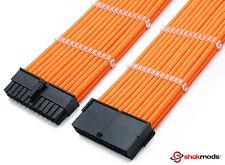 24 Pines Atx Psu Cable de extensión Naranja Manga Larga fuente de alimentación extensión shakmods