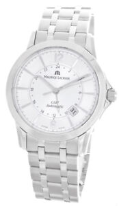 Maurice Lacroix Mens Pontos GMT Stainless Steel Automatic Watch PT6068