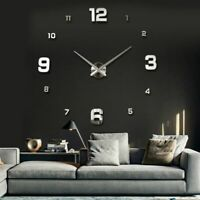 DIY Wall Clock Modern Style Needle Quartz Sticker Home Decorative Room Watch