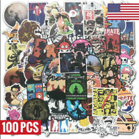 100 Vinyl Anime One Piece Stickers Bomb Skateboard Laptop Luggage Graffiti Decal