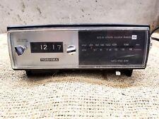 Vintage Toshiba 10C-873F AM FM Radio Alarm Rolling Digits Clock READ DESCRIPTION
