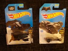 2 x Hot Wheels Batman Cars/ Vehicles - Batmobile & The Bat - UK Seller