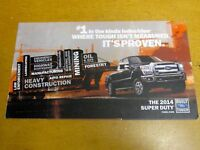 2014 FORD SUPER DUTY FACTORY DIRECT MAILER BROCHURE