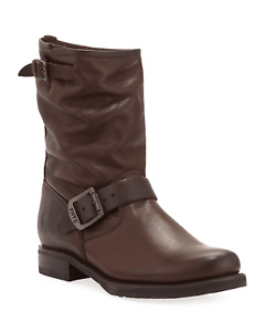Frye Veronica Short Booties - Chocolate Brown - Never worn