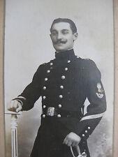 Photographie ancienne Portrait militaire vers 1890 CDV