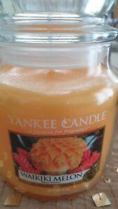 Yankee candle medium jar WAIKIKI MELON  VERY RARE NEW