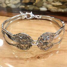 ORANGE BLOSSOM * 1910 * Wm. Rogers * Sterling Silver Plated Spoon Bracelet