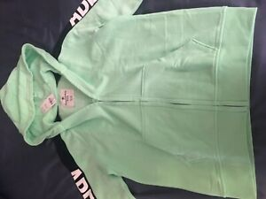 NWT Abercrombie and Fitch Kids Light Green Zip-Up Hoodie Boys 15/16