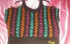 COOGI All over Signature Cold Shoulder Blouse size 1X