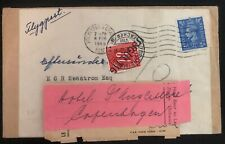 1948 Rochester England Economy War Label Cover To Switzerland Postage Due