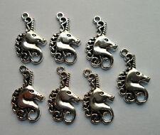 15pcs Tibetan silver unicorn charm pendant 25x15 mm