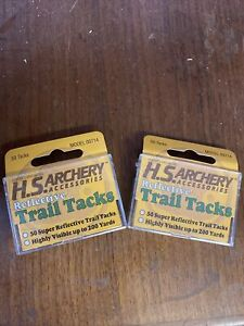 H.S. Archery Super Reflective Trail Tacks Package of 50