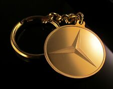 24K GOLD LAYERED KEYRING KEY RING WITH MERCEDES BENZ LOGO