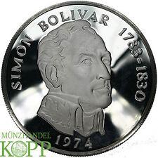 E17) panama 20 le Argent pièce de monnaie 1974-Argent