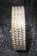 Gorgeous classy glitzy stunning bangle style bracelet with spring hinge