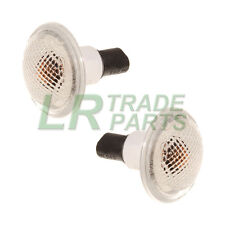 RANGE ROVER L322 CLEAR SIDE WING REPEATER INDICATOR LIGHTS & BULBS X2, XGB500020