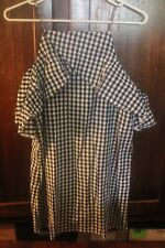 BOOHOO - Ladies size 14 'Amelia cold shoulder gingham shift dress' BNWT.