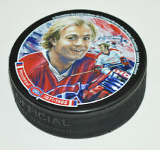 GUY LAFLEUR Montreal Canadiens 1971-1985 Rare SOUVENIR HOCKEY PUCK