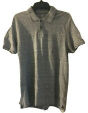 Old Navy Mens Heathered Gray Short Sleeve Polo Shirt Cotton Spandex Size L