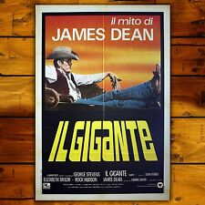 Original Poster Giant  - Il Gigante, James Dean - Size: 100x140 CM - Edition 80s