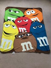 Multi Coloured M&M Fleece Throw 153cm X 127cm