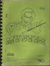Bally pinball 1980 = MYSTIC =  manual & schematics
