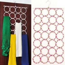 28 Circles Clothes Tie Scarf Rack Hanger Diy Rack Holder Organizer Random Color