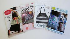Sewing Pattern Purse LOT of 4 Carina Gardner Sling Izzy & Ivy Ruffles Amy Butler