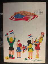 1946 Netherlands PostCard Cover Thank You USA Child For Liberation from Nazis 3