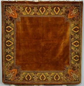 Fabulous Antique French Sumptuous Cotton Velvet Tablecloth / Sofa Throw  C1900