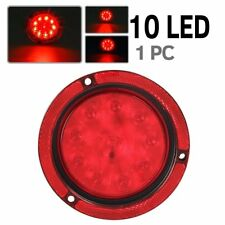"Red 4"" Round Truck Trailer Brake Stop Turn Tail Lights 10 LED"