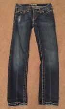 Women's BKE MADISON Skinny Stretch Jeans Size 25 X 28 Dark Wash,Thick Stitching