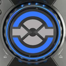 PIONEER cdj400 TRAKTOR JOG grafica SLIPMAT - (argento e blu) / cdj 400