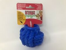 NEW KONG Widgets Braidy Ball - Interactive /Treat Dispensing Ball - Large - Blue