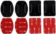 4 x Klebepads Pads gerade u. gebogen für GoPro Hero 1 2 3 4 5 6 Versand aus DE